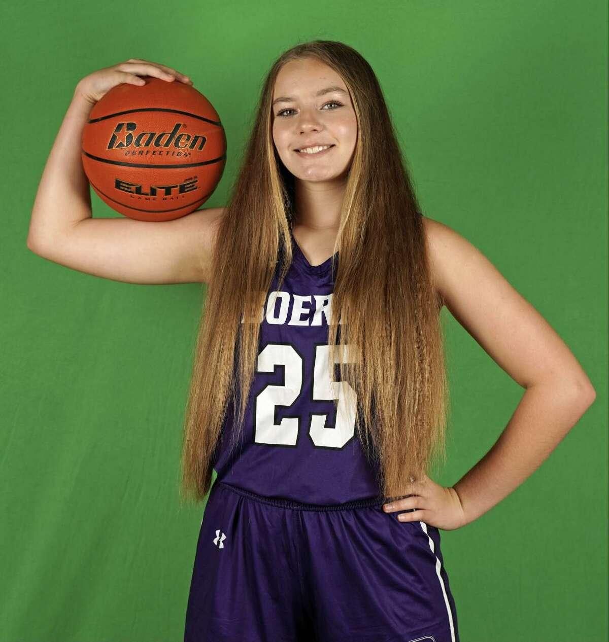Averi Aaron is a freshman center for Boerne's girls basketball team.