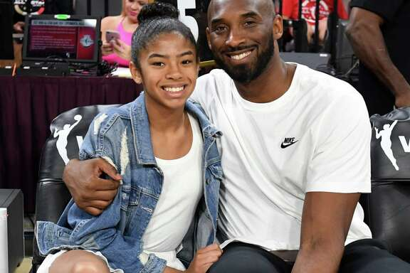 The relationship that Kobe Bryant had with his daughters, shown here at the 2019 WNBA All-Star game with his daughter Gianna, is still a special part of Bryant's legacy a year after he and Gianna died in a helicopter crash.
