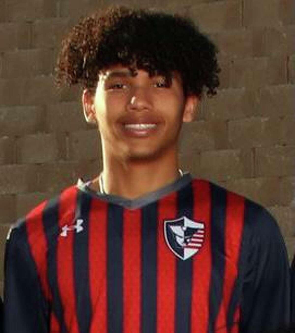 Jaden Pharris is a senior forward for San Antonio Veterans Memorial's boys soccer team.