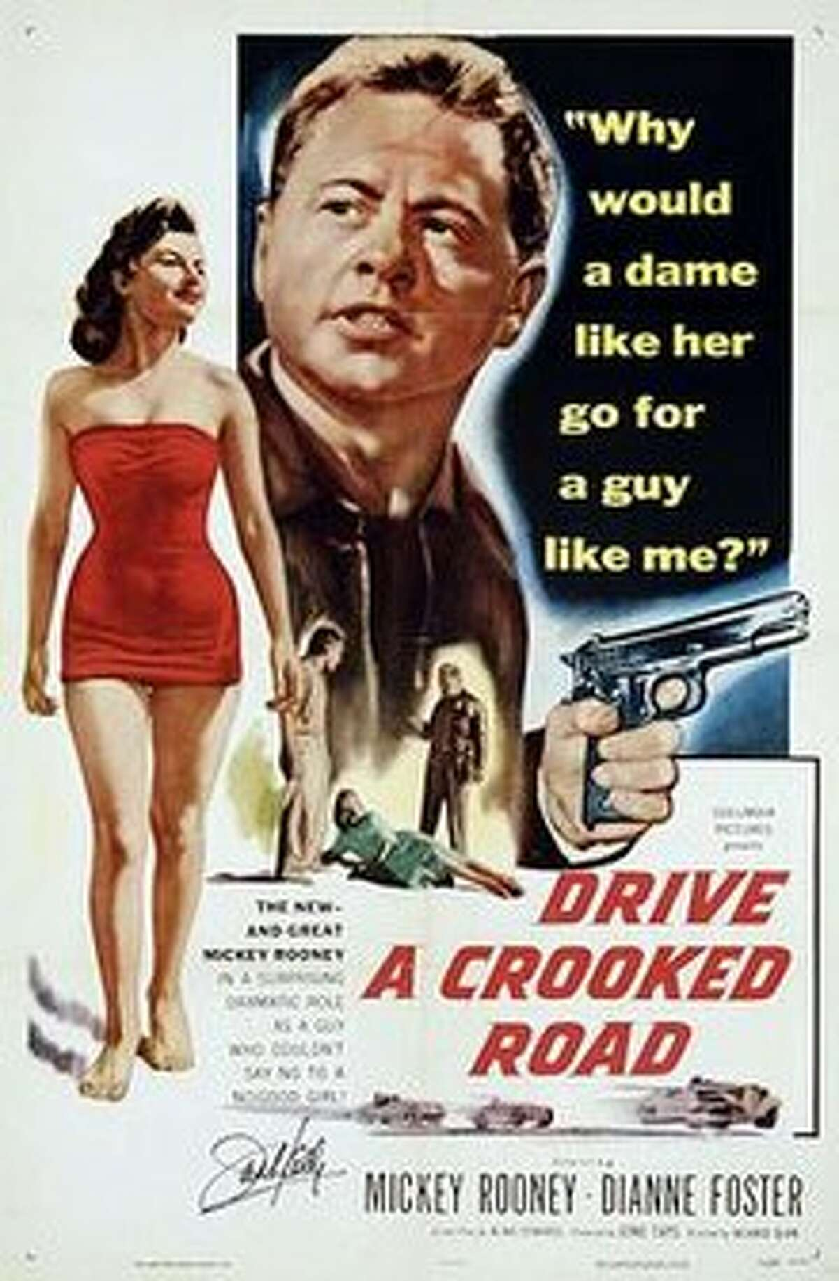 """""""Drive a Crooked Road"""" poster"""