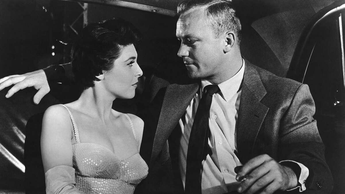 "Anne Bancroft and Aldo Ray in ""Nightfall"" (1956)"