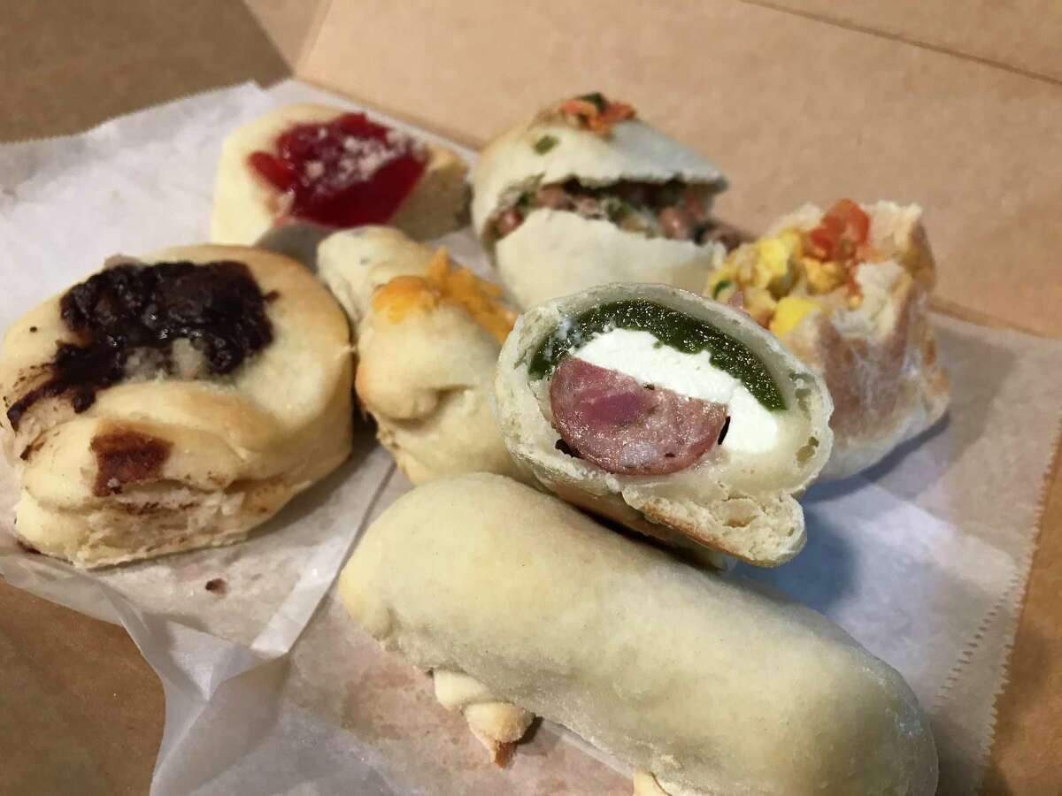 A selection of pastries from Bexar Kolaches