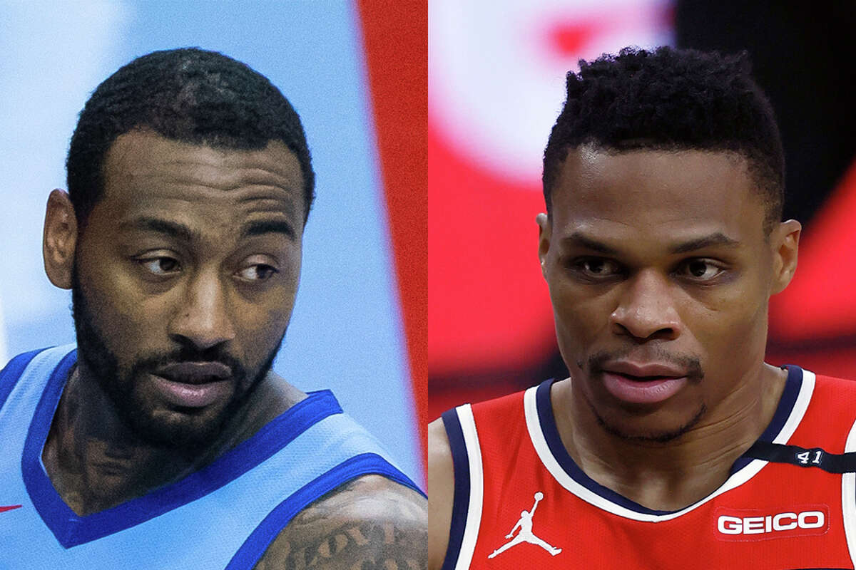 Traded for each other this offseason, John Wall (left) and Russell Westbrook face their former teams for the first time since the deal when the Wizards visit the Rockets on Tuesday night.