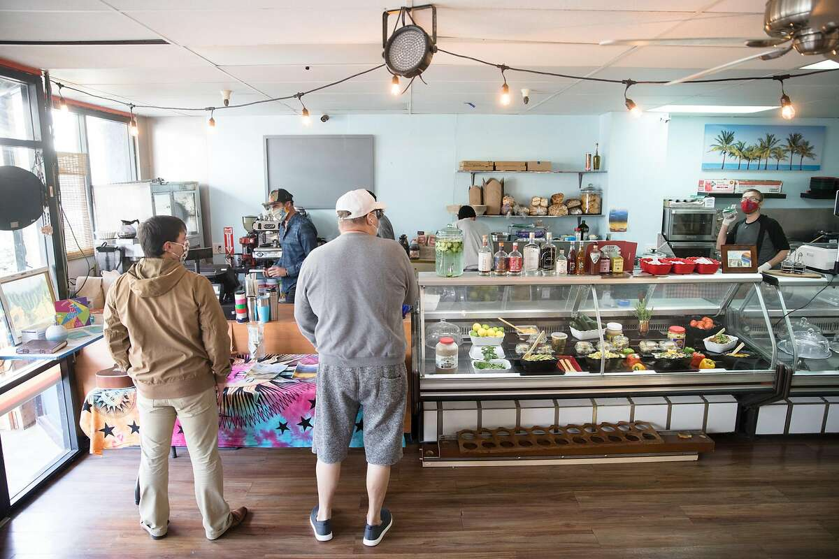 The interior of Ocean Beach Cafe near Ocean Beach in San Francisco, California on Jan. 25, 2021.