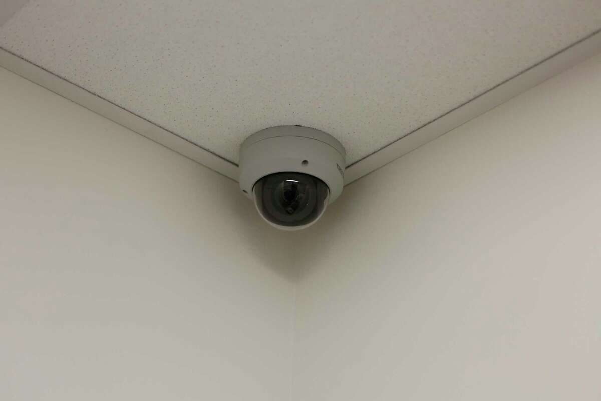 Dr. Lisa Ehrlich installed a security camera to make sure COVID-19 vaccines for her patients are safe and accounted for Friday, Jan. 8, 2021, in Houston.