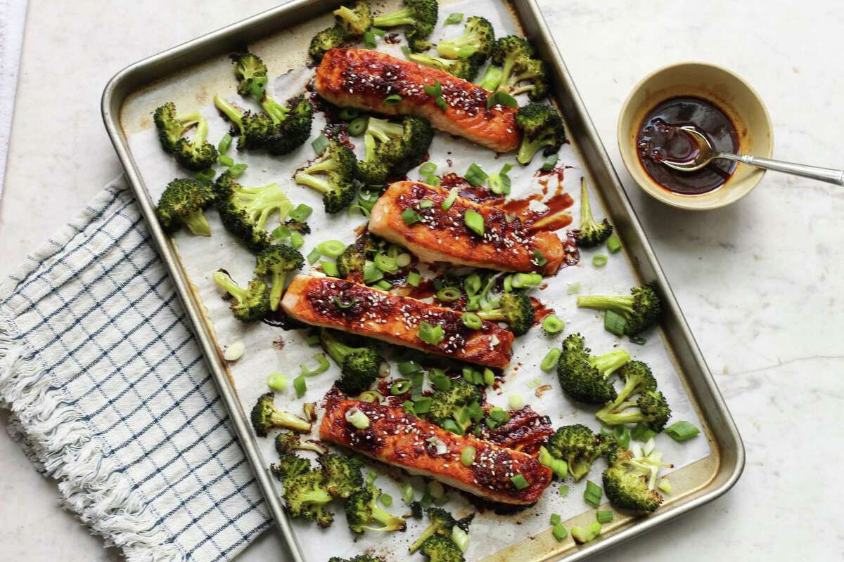Recipe: Sheet Pan Soy Ginger Salmon and Broccoli