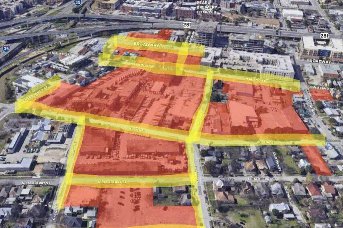 Maps and renderings presented to the Midtown Tax Increment Reinvestment Zone show plans for Broadway East.