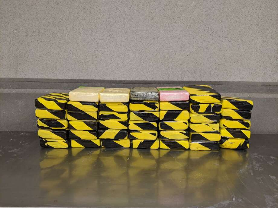 U.S. Customs and Border Protection officers said they seized nearly 106 pounds of cocaine at the Colombia Solidarity International Bridge. The cocaine had an estimated street value of $817,360. Photo: Courtesy Photo /U.S. Customs And Border Protection