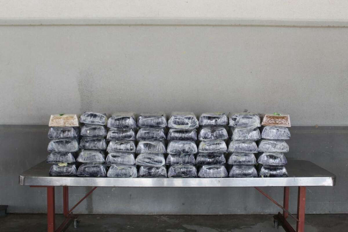 U.S. Customs and Border Protection officers said they seized these bundles of meth at the Colombia Solidarity International Bridge. The contraband had an estimated street value of $5,458,589.
