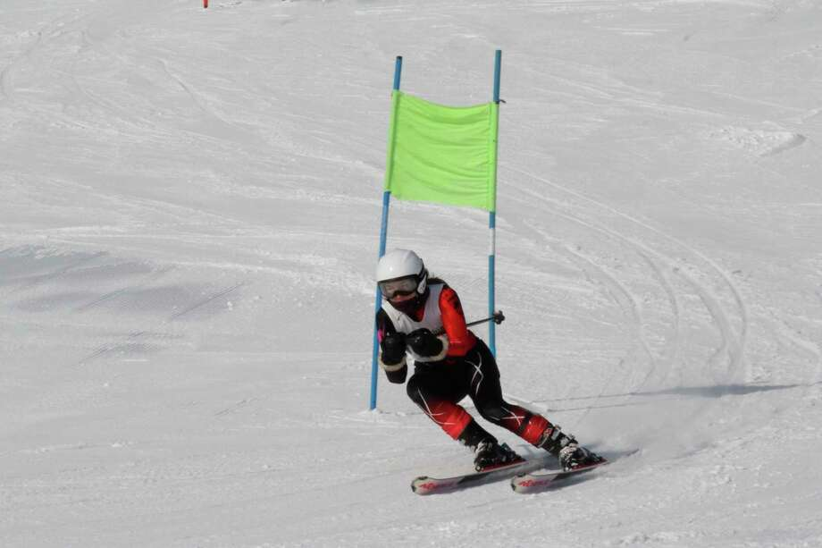 Ella Gaylord races to a ninth place finish in the giant slalom on Jan. 25. (Robert Myers/Record Patriot)