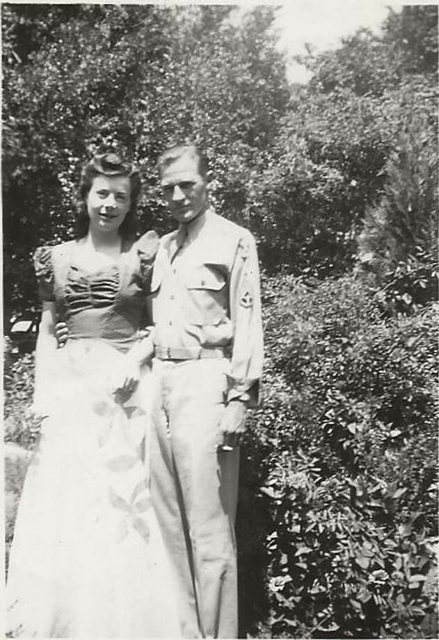 The photo is courtesy of Beverly Dagley Yeager, Evelyn's daughter. It might be a wedding day photo of Evelyn and Eugene Reed on August 10, 1942. She is wearing a formal dress and he is wearing his glider pilot uniform. Photo: Courtesy Of Beverly Dagley Yeager, Evelyn's Daughter/Provided By John McCullough