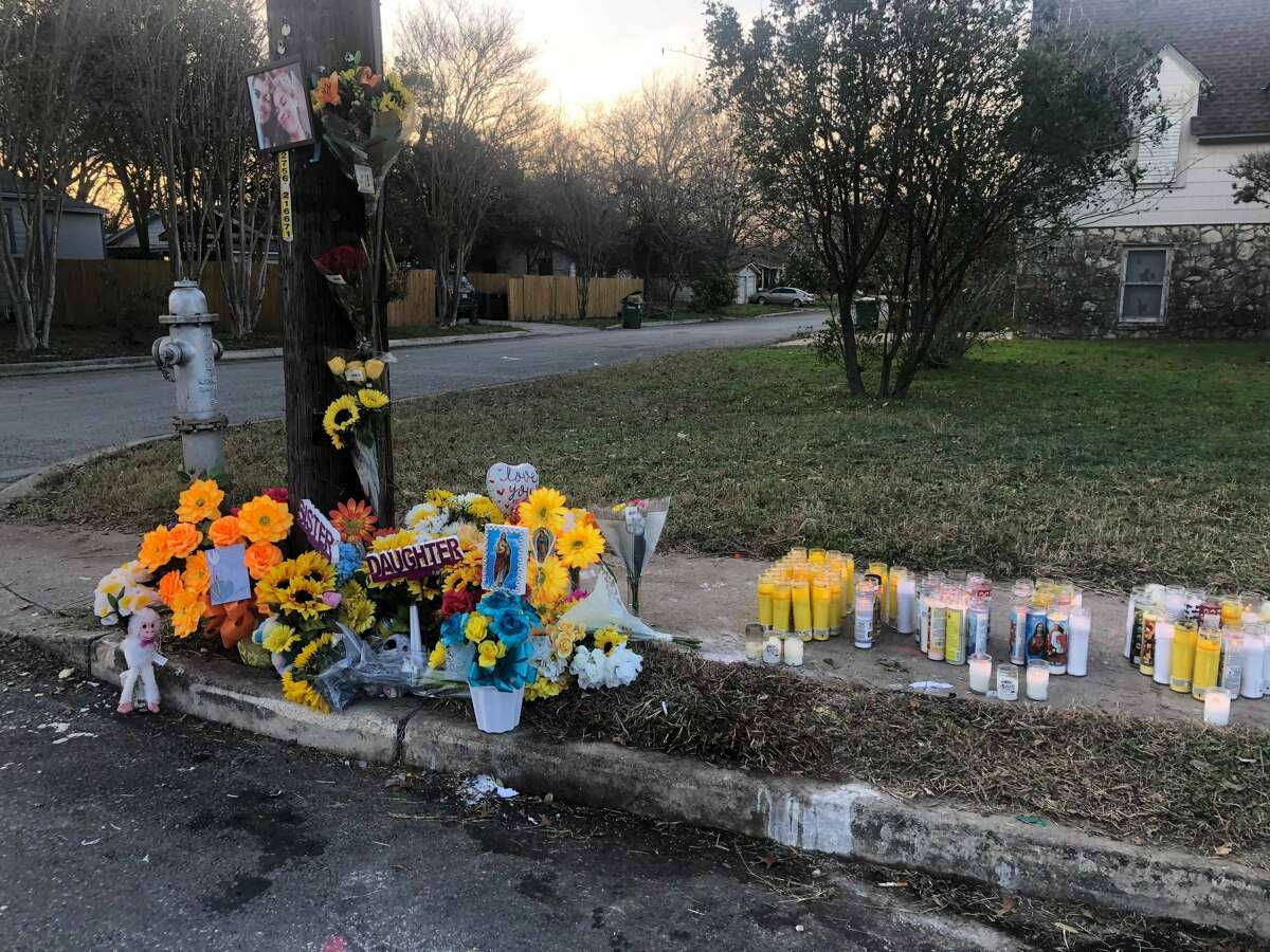 A memorial emerged on the corner of Steves and Candler for Breeana Sandoval, 20, who died at the scene where she crashed.