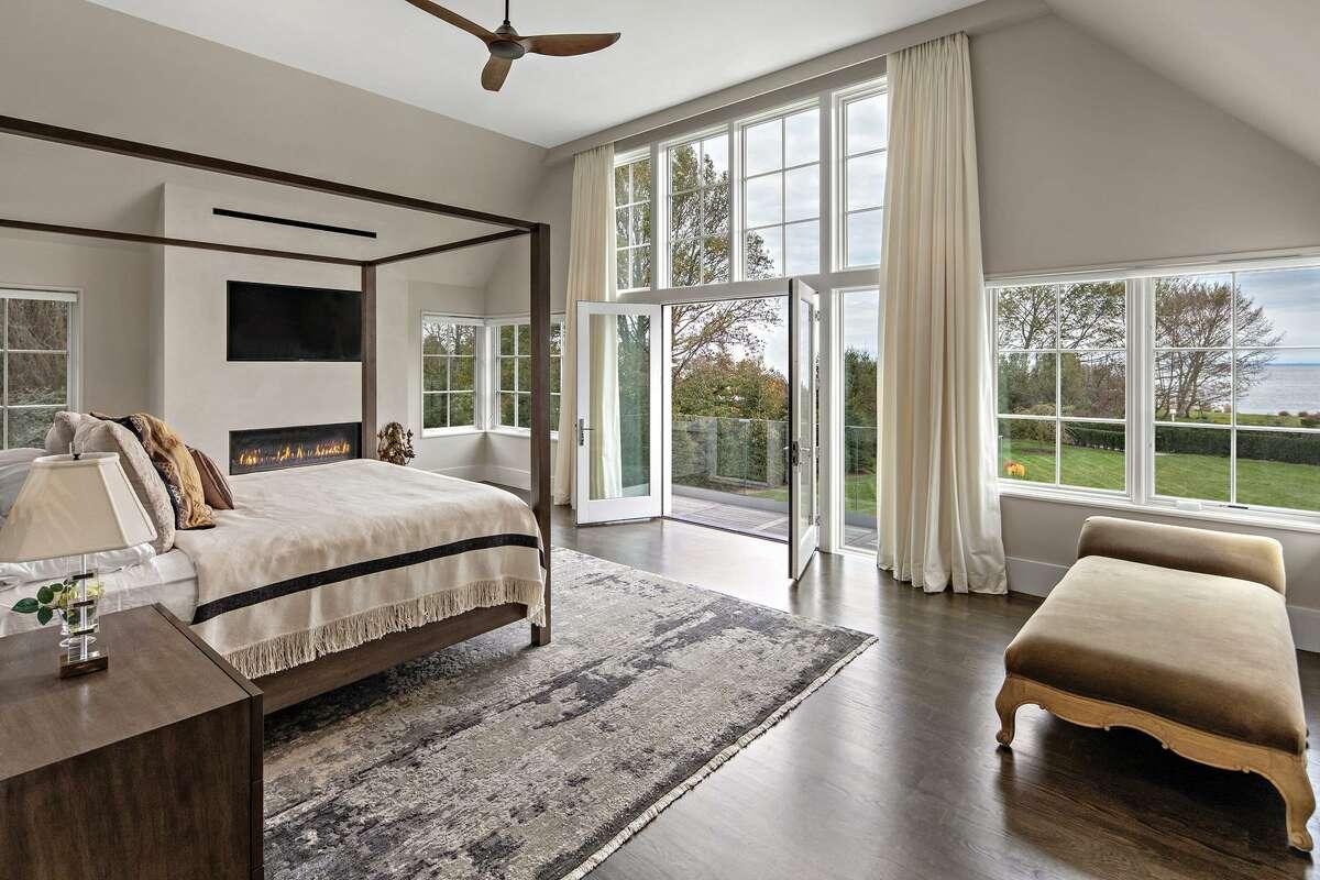 Master bedroom suite at 66 Beachside Avenue, Westport.