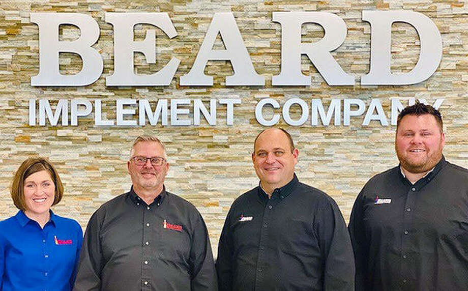 Suzanne Hobrock (left) and Nate McGraw (right) will join Beard Implement Co. owners Gerry Beard and Kyle Schumacher as principals of the business. Photo: Provided
