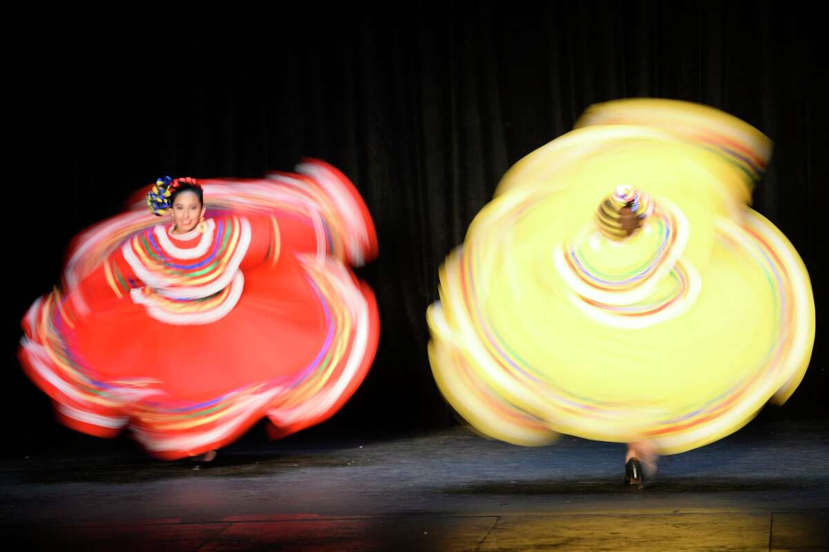 Ballet folklorico dancers perform during a hispanic heritage celebration sponsored by CASA of West Texas and the Midland Hispanic Chamber of Commerce Oct. 13, 2018, at the Yucca Theater.