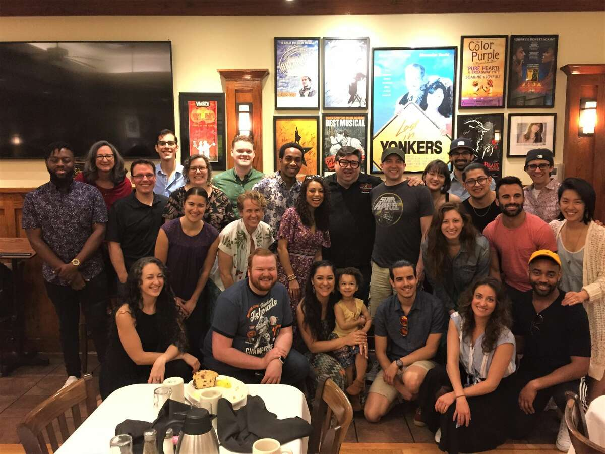 The Hamilton cast dined at Kenny & Ziggy's Schmooze Room while in Houston.