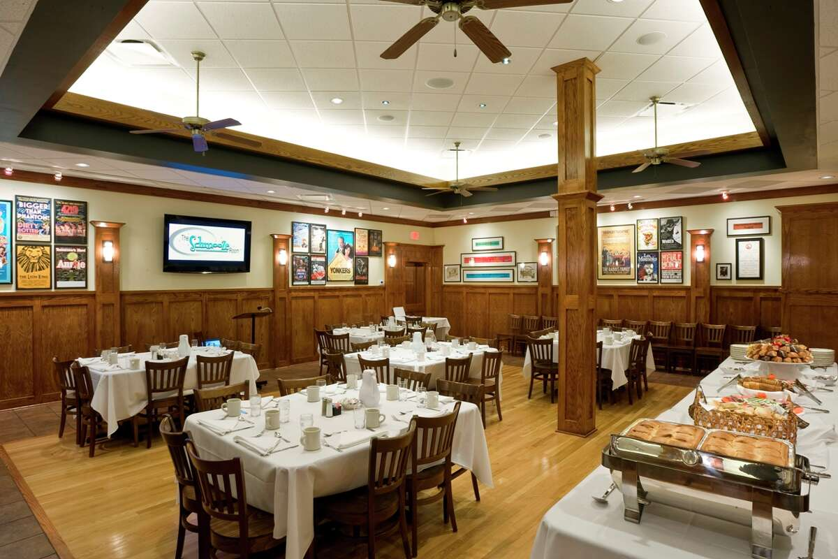 Kenny & Ziggy's Schmooze Room can serve 65-75 people depending on the type of party being hosted.