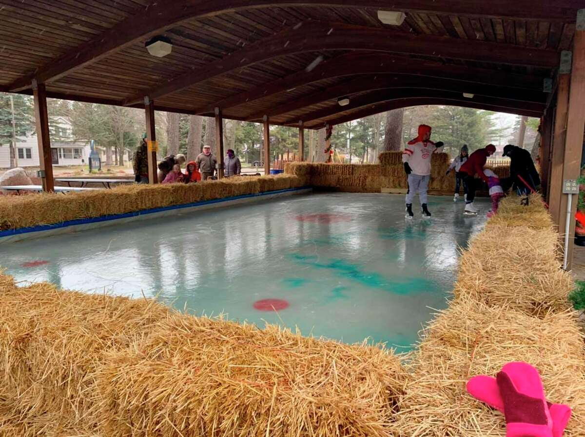 Port Austin's ice rink in Gallop Park was officially unveiled in December 2020 and is the central location of many events during the Winter Carnival, including a kids skating competition and Zamboni naming event. (Courtesy Photo)