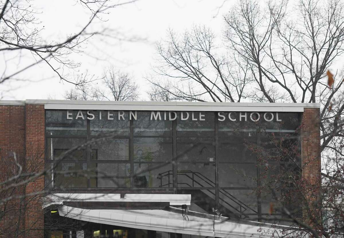 Eastern Middle School in the Riverside section of Greenwich, Conn., photographed on Tuesday, Dec. 10, 2019.