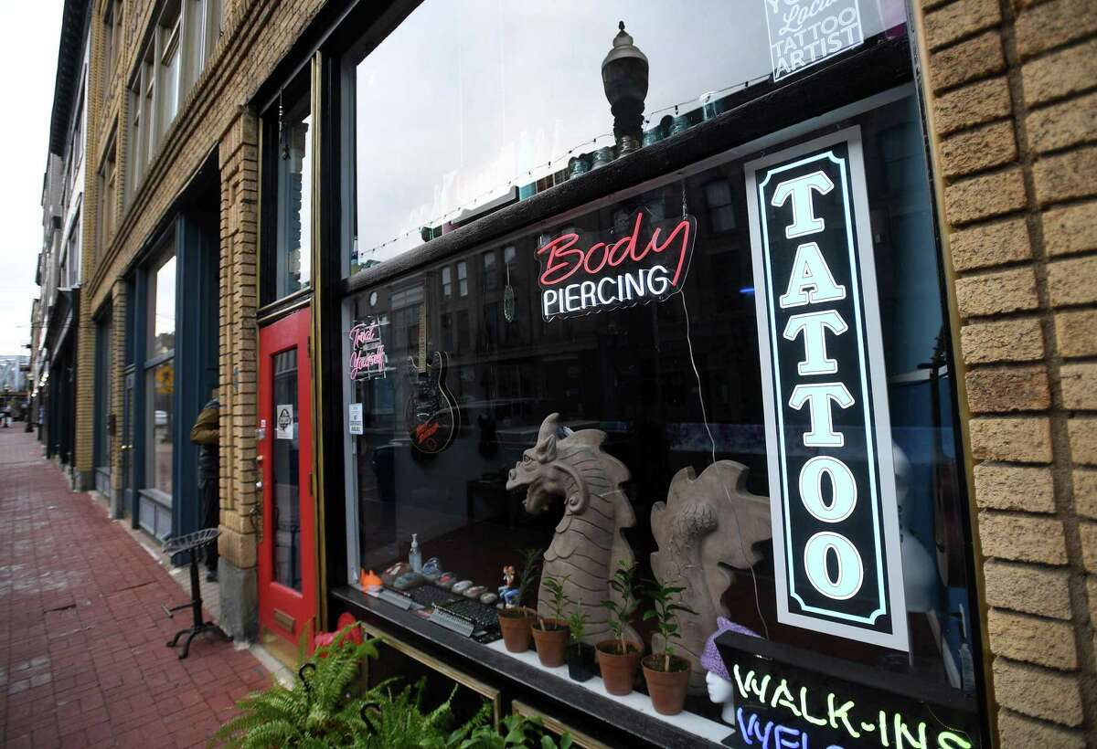The recently opened SoNo Tattoo at 127 Washington Street in Norwalk, Conn. on Monday, January 25, 2021.