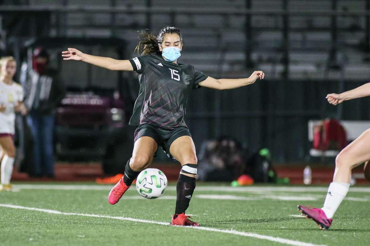 Senior forward Liz Bohorquez-Ortega is a key returnee for the Pearland Lady Oiler soccer team which begins its District 23-6A title bid this Friday.