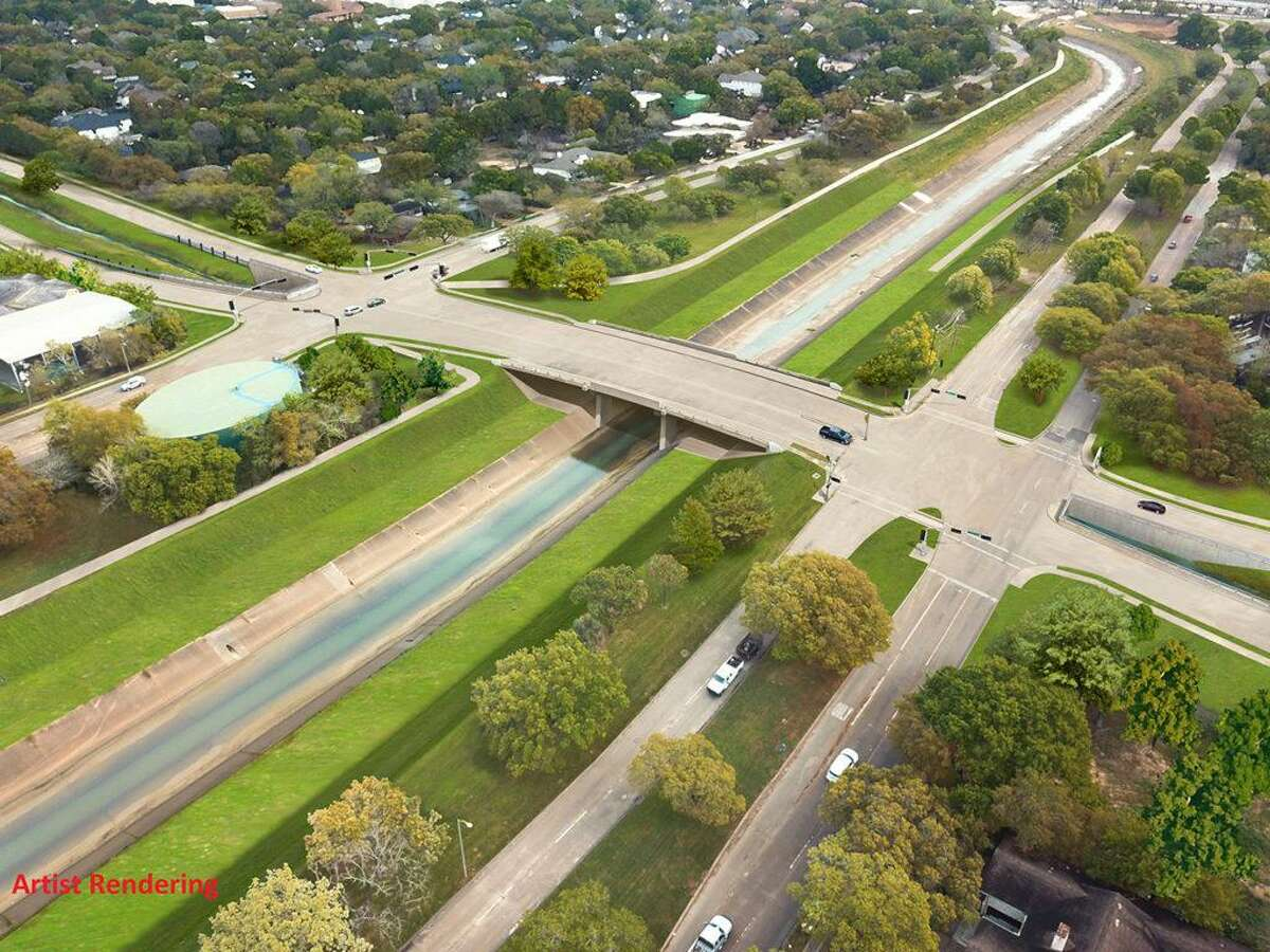 The city of Houston and Harris County are planning to build bridges over Bray's Bayou. The project would increase the area below the bridges to accommodate additional stormwater and replace the current bridges with higher, longer and wider ones to allow more floodwater to flow through the bayou.