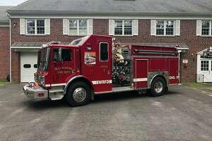 West Redding Volunteer Fire Department truck.