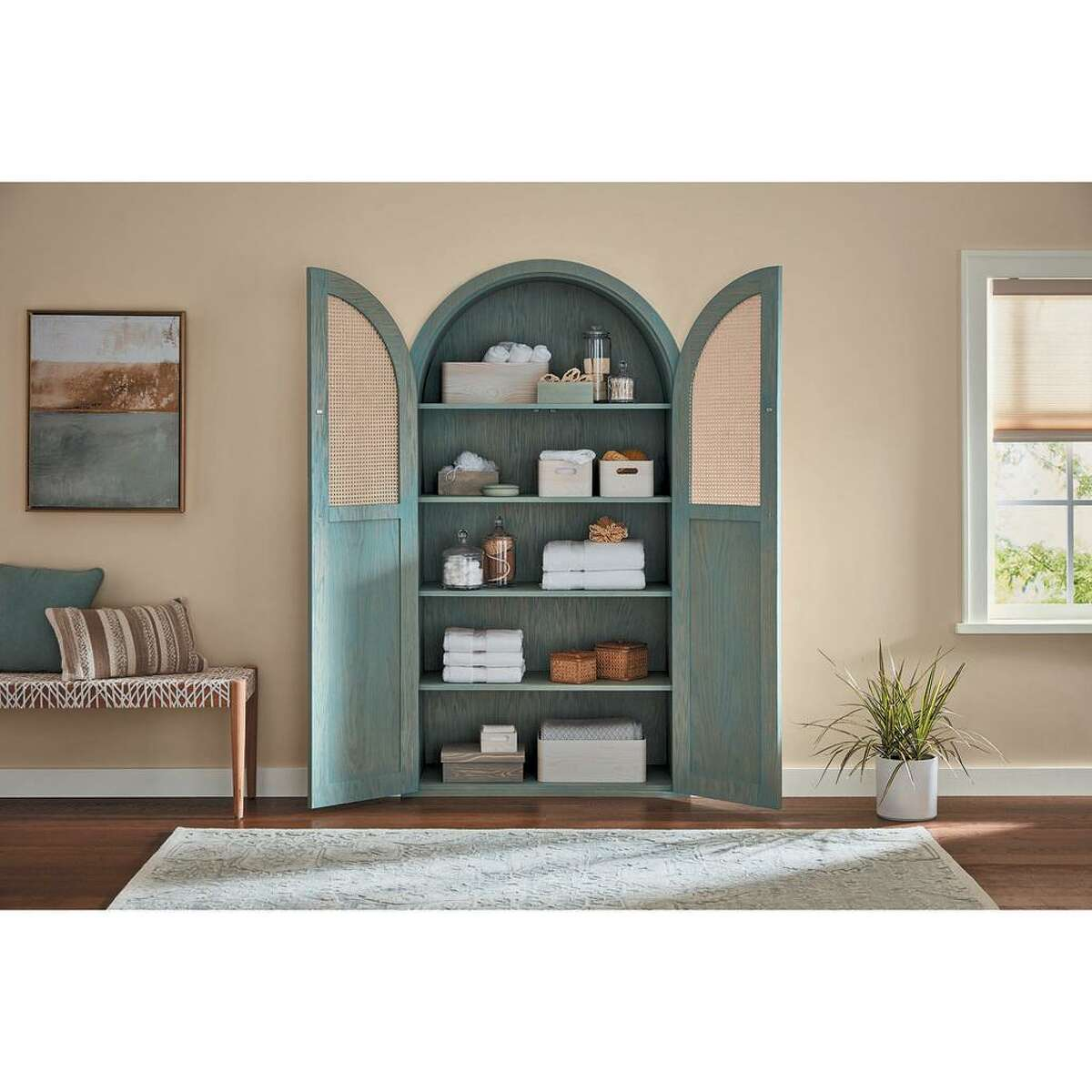 """Minwax has named """"Vintage Blue,"""" a soft blue-green stain, as its first Color of the Year."""