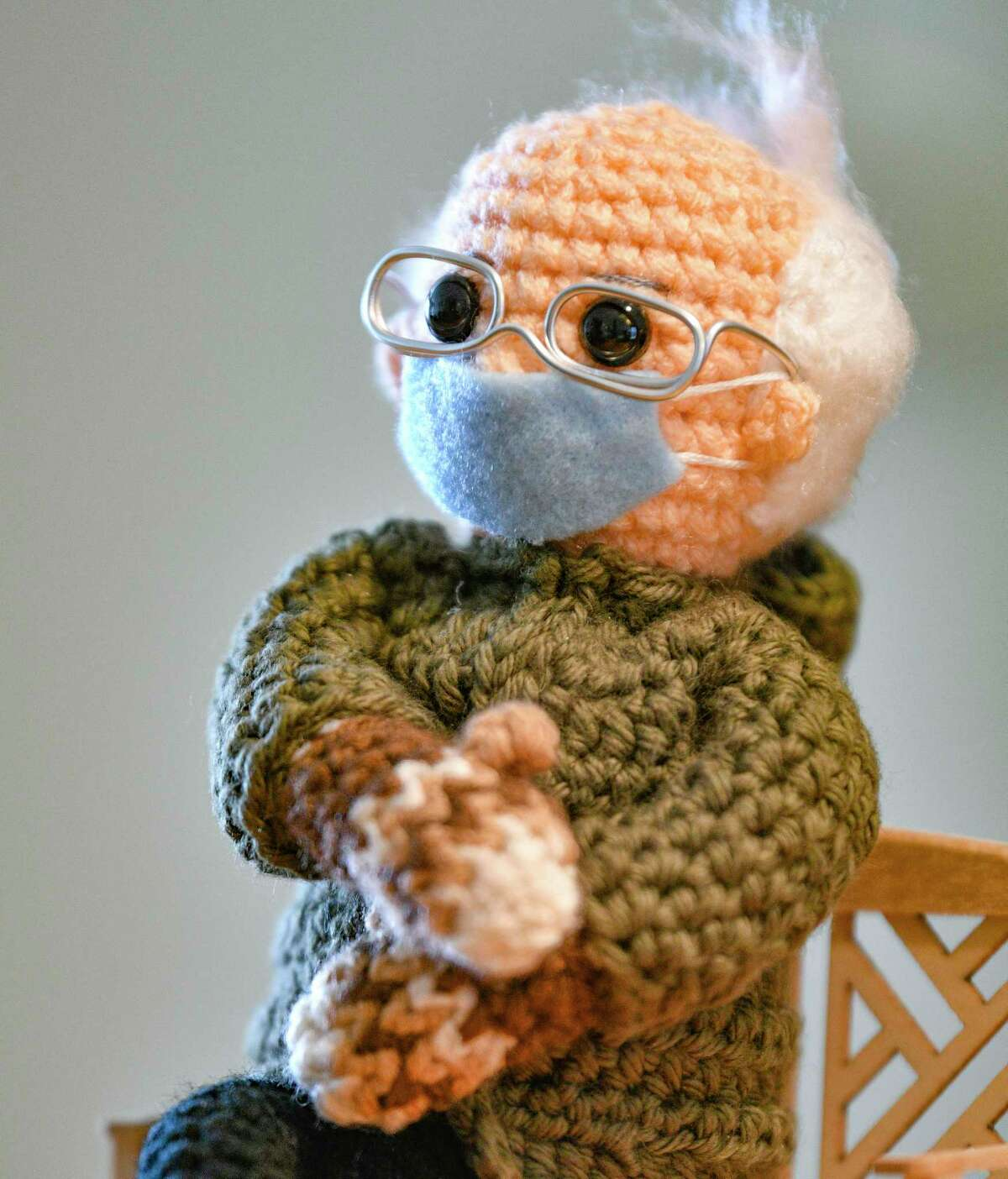 """Tobey King's Bernie Sanders doll sold for $20,300 on eBay Tuesday, with all proceeds going to Meals on Wheels. America. She said that she paid special attention to the mittens, which replicate those worn by Sen. Sanders at the inauguration of President Joe Biden Thursday. She said that she ruffled his hair because """"Bernie doesn't pay much attention to his hair."""""""
