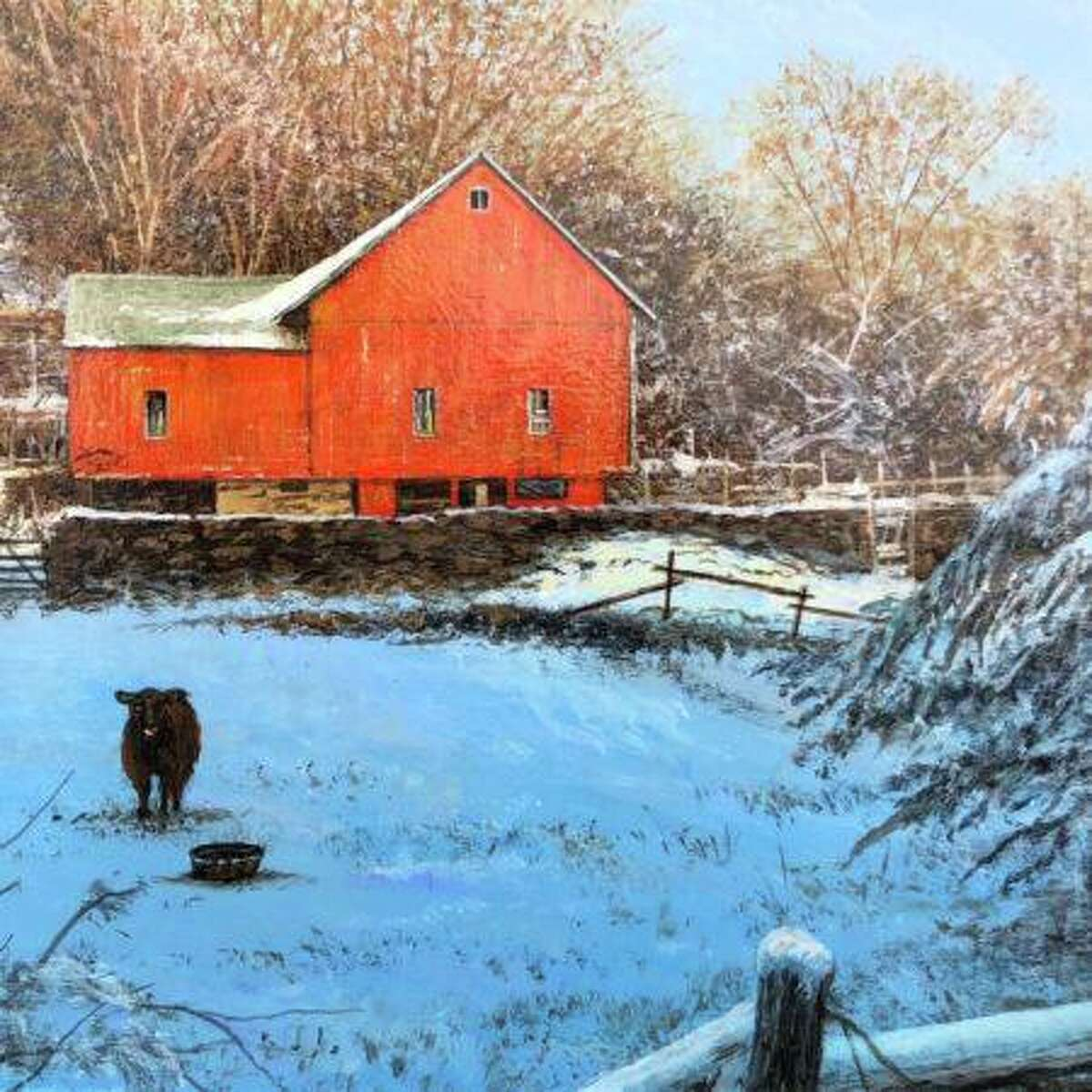 Susan Powell Fine Art's new show, Valentine Gems, features paintings by over 25 favorite award-winning artists. Above, Del-Bourree-Bach, Winter Watch, acrylic.