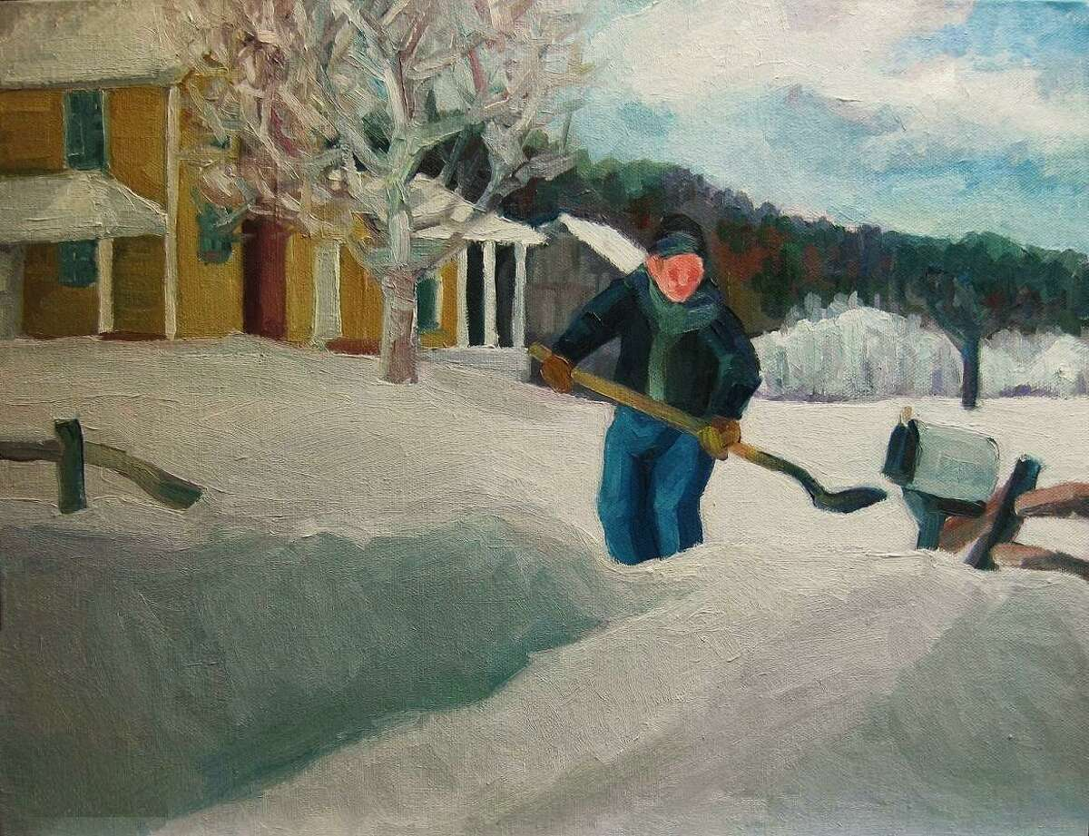 The Winter Show of all new works by 27 local artists opens at Earth and Fire Art Studio Jan. 30. Above, Rural Free Deliver, Michael Centrella, oil.