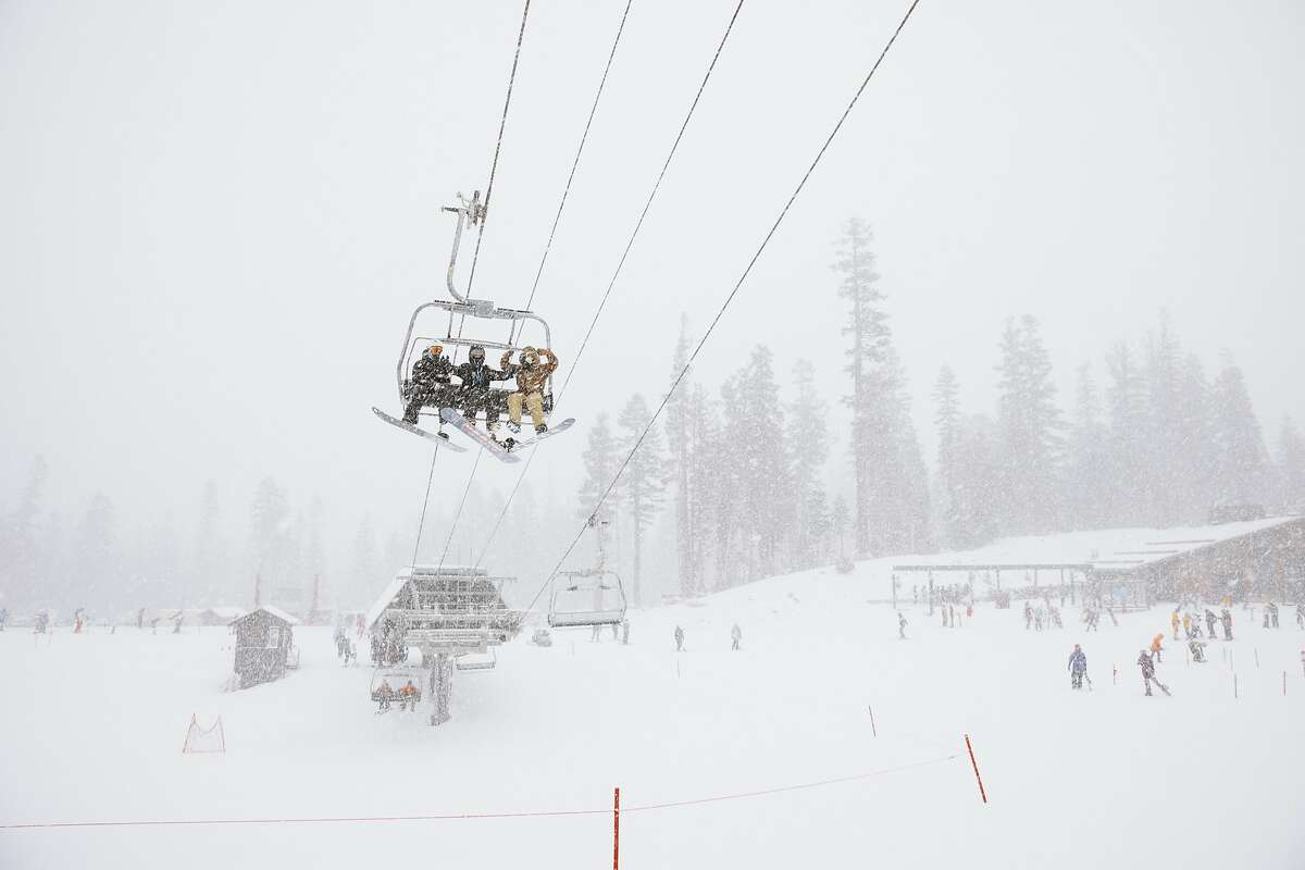 A blizzard warning was issued for the Sierra region through Friday morning.