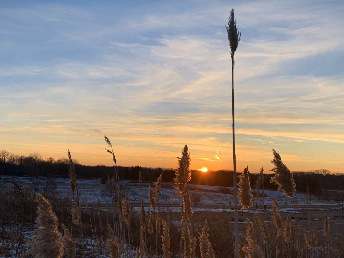 This sunset shot was taken at one of Kathy Colman's