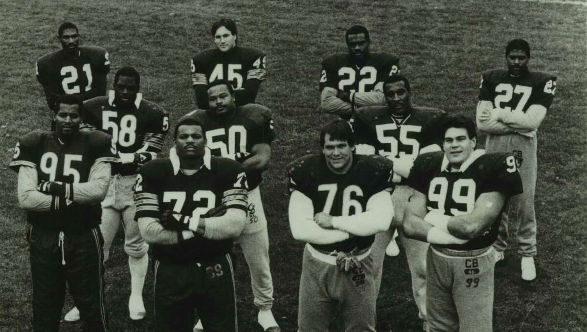 Leslie Frazier (21) and Mike Singletary (50) were part of ferocious defense that lead the 1985 Chicago Bears to a Super Bowl championship. Other members included Richard Dent (95), William Perry (72), Steve McMichael (76), Dan Hampton (99), Wilber Marshall (58), Otis Wilson (55), Gary Fencik (45), Dave Duerson (22) and Mike Richardson (27).