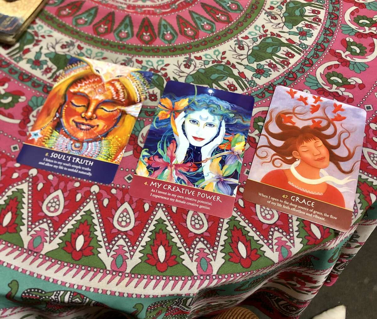 A soul spread tarot reading at the Unlimited Thought Life Enrichment Center.