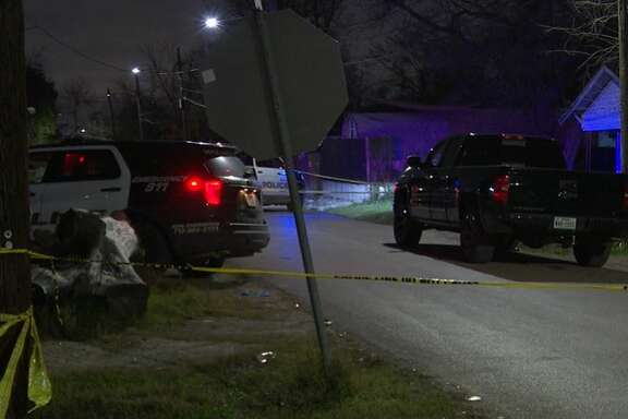 Police investigated a homicide Tuesday night in Houston's Clinton Park neighborhood.