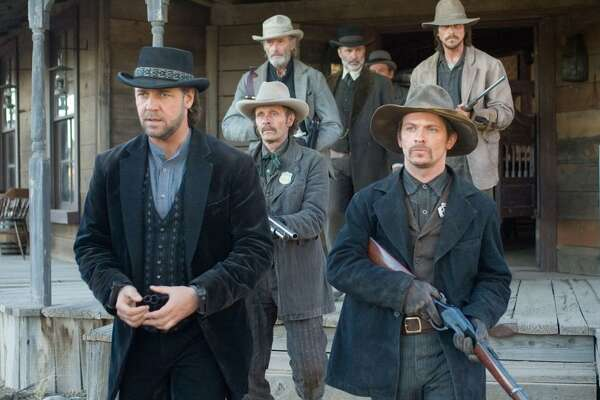 #100. 3:10 to Yuma (2007) - Director: James Mangold - Stacker score: 83.2 - Metascore: 76 - IMDb user rating: 7.7 - Runtime: 122 minutes An Elmore Leonard short story provided the basis for both a 1957 Western and this action-packed remake. Christian Bale plays rancher Dan Evans, who must escort wanted outlaw Ben Wade (Russell Crowe) to justice. Many scenes were shot at New Mexico's Bonanza Creek Ranch, which has been used for a number of classic Westerns.