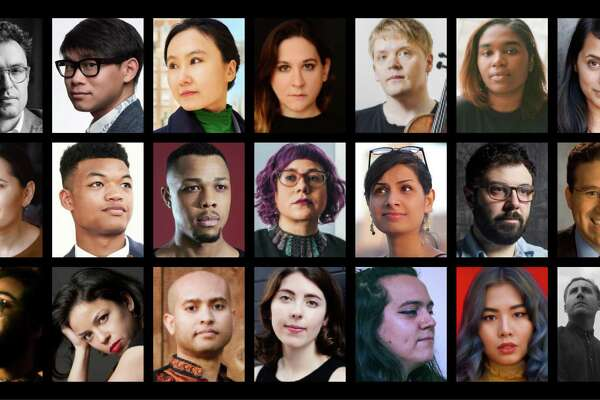 (Left to right from top left) Timo Andres; Viet Cuong; Wang Lu; Nadia Sirota; Pekka Kuusisto; Yaz Lancaster; Reena Esmail; Adeliia Faizullina; Randall Goosby; Davone Tines; Angélica Negrón; Niloufar Nourbakhsh; Christopher Cerrone; Dan Shore; Darien Donovan Thomas; Mary Prescott; Derrick Spiva; Flannery Cunningham; Inti Figgis-Vizueta; Jiji; Balmorhea