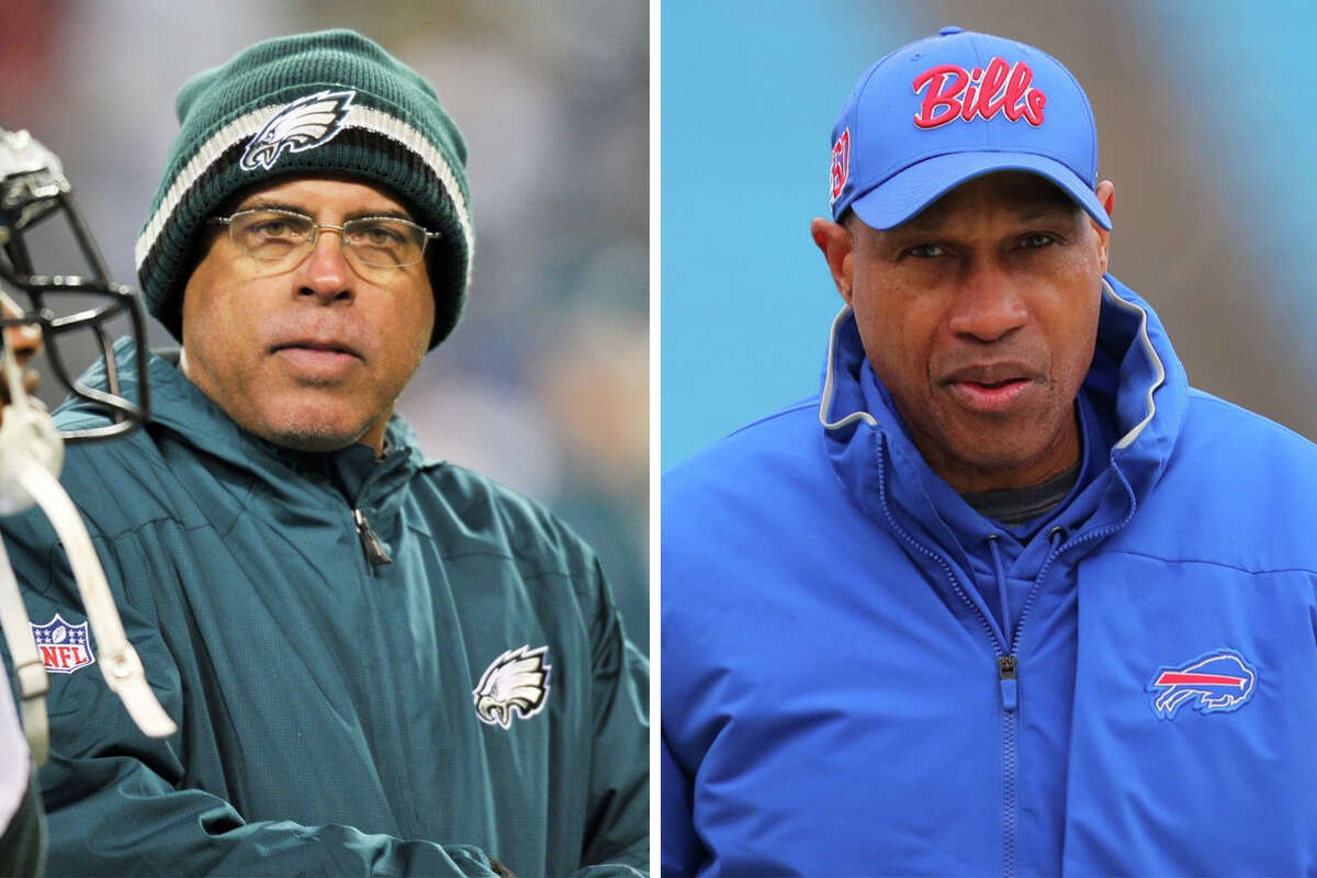 The Texans conducted interviews with David Culley, left, and Leslie Frazier for the open head coaching position.