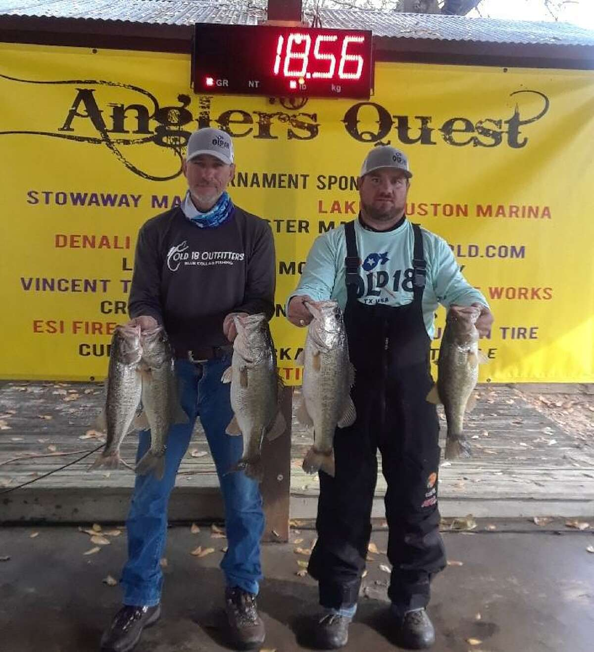 Tony Zorn won the Anglers Quest Team Tournament #1 with a total weight of 18.56 pounds.