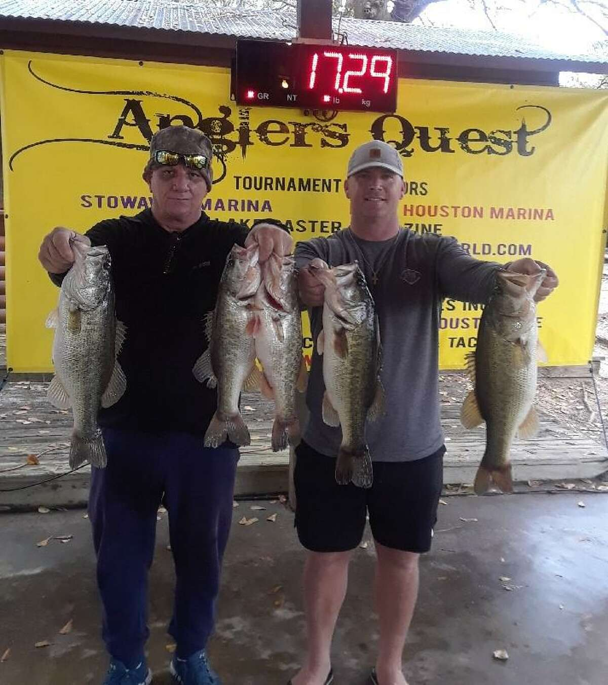 Bobby Shearfield and Bob Shearfield claimed second place in the Anglers Quest Team Tournament #1 with a total weight of 17.29 pounds.
