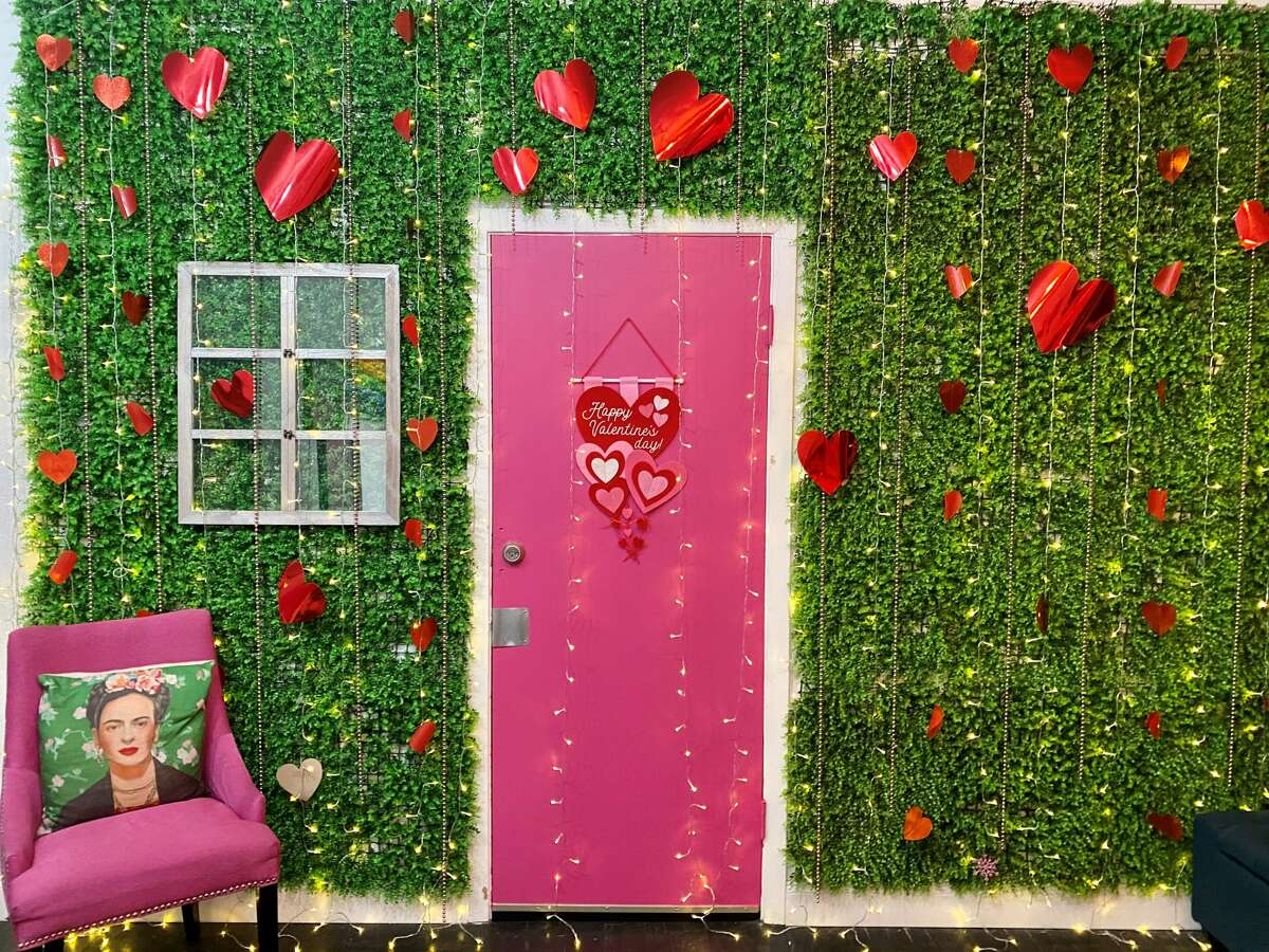 If you're looking for a more private indoor location to take that Valentine's Day photo, Creative Studio HTX is just the spot with fun and colorful backdrops to mark the occasion. Located in the heart of downtown at 4118 Fannin St., Creative Studio HTX was founded by Manny Lopez, Connie Leon with the Creative Studio team told Chron via email.