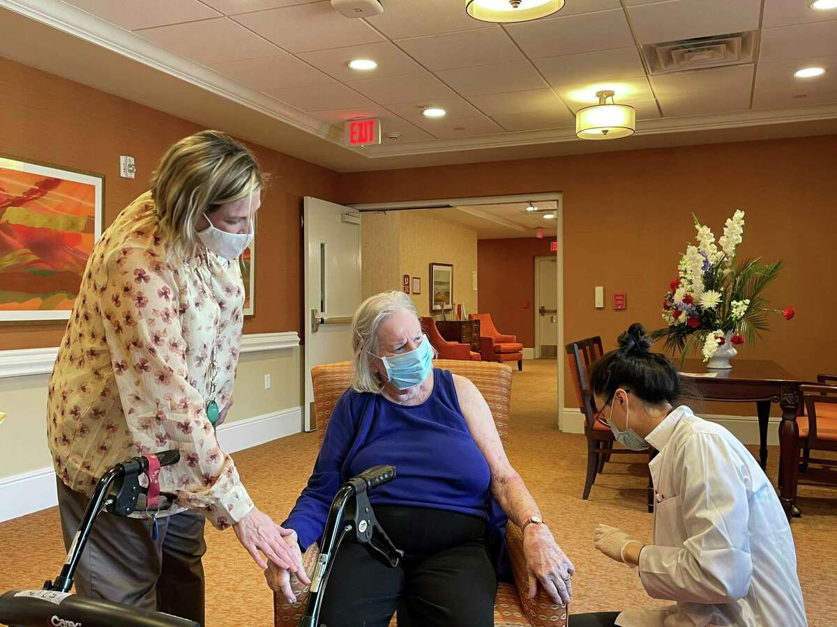 The Buckingham senior living community held its second round of COVID-19 vaccinations for residents and staff on Jan. 26