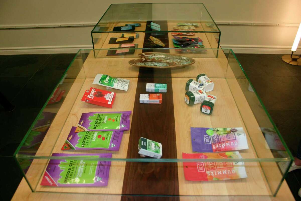 The Wellflower medical marijuana dispensary in downtown Big Rapids offers a selection of edibles including gummies, chocolates, mints and suckers. (Pioneer file photo/Cathie Crew)