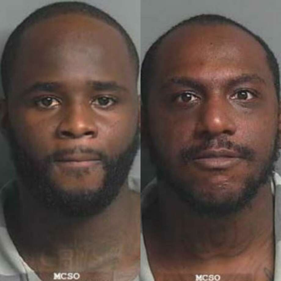 Ja Michael Cruse, 27, of Houston, and Khoury Ronaldo Thomas, 29, of Humble, are facing burglary of vehicle and evading arrest charges, both Class A misdemeanors. Photo: Courtesy Of The Montgomery County Sheriff's Office