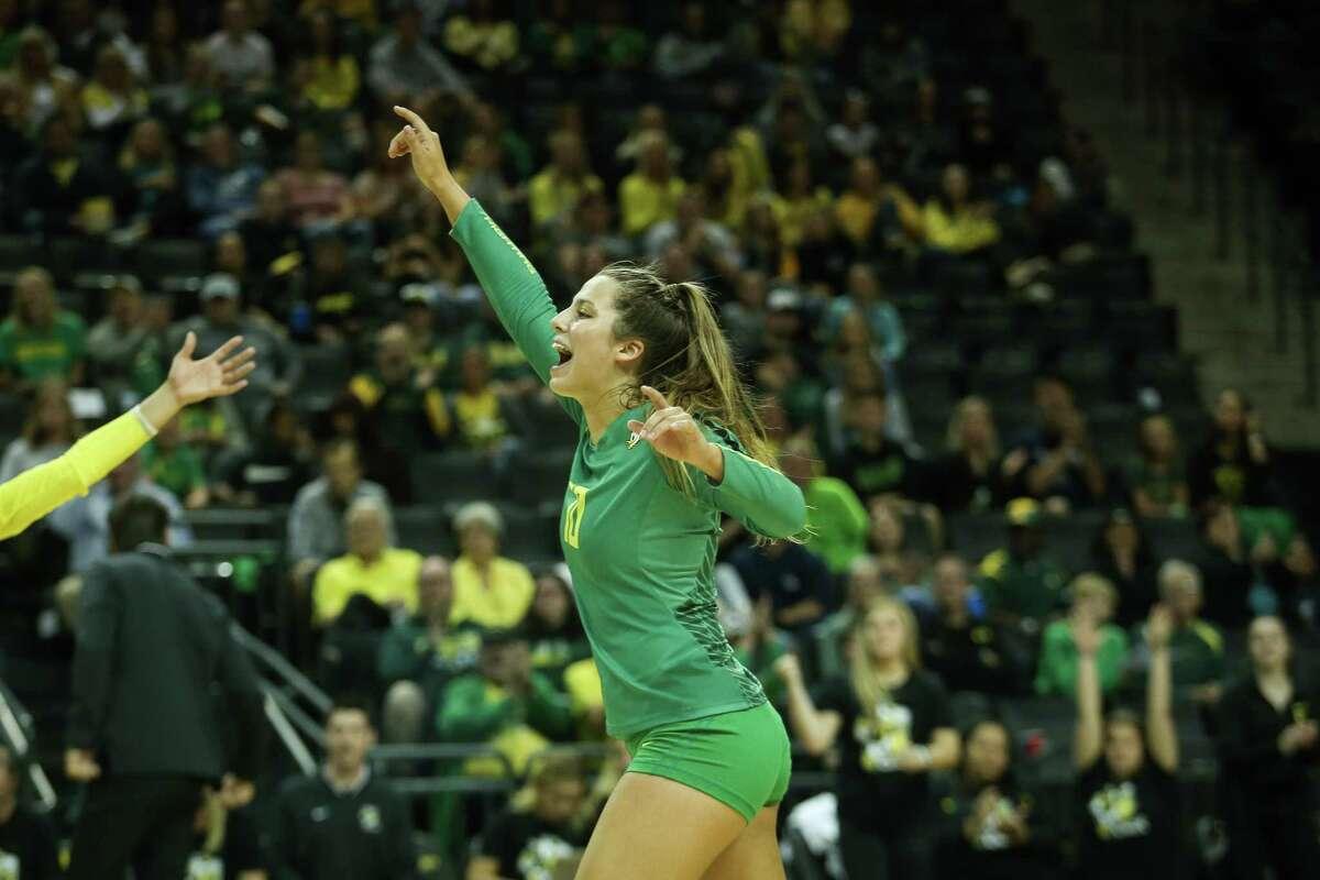 Oregon volleyball player Georgia Murphy.