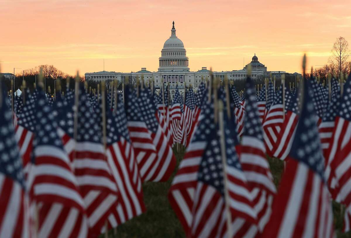 The U.S. Capitol and National Mall are prepared Jan. 18 for President Biden's inauguration.