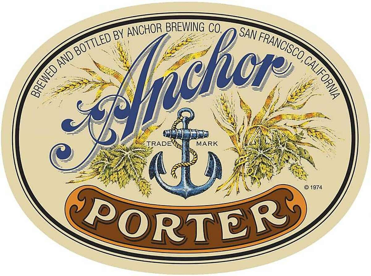 The Anchor Porter label, which Jim Stitt designed in 1974.