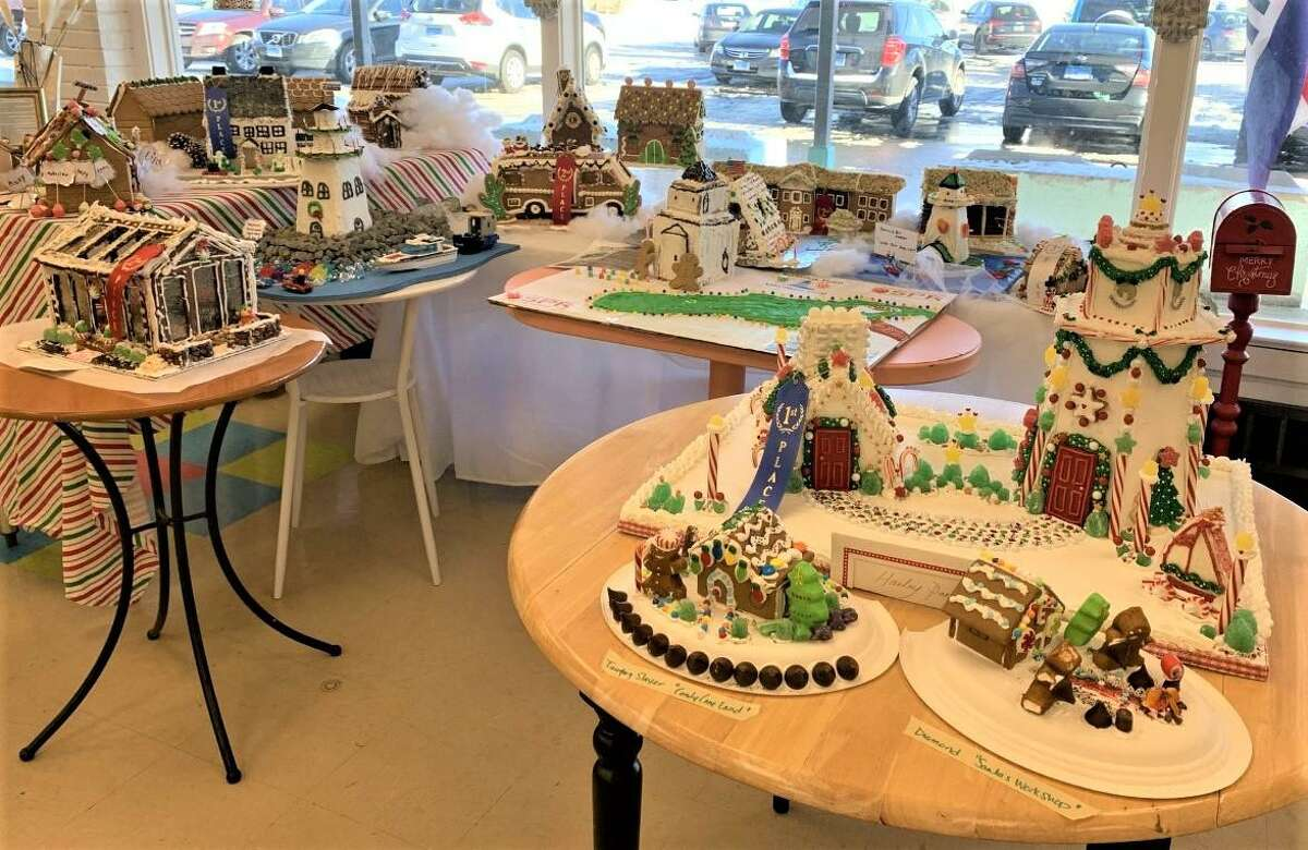Old Saybrook Cares was the beneficiary of the town's Economic Development Commission's Gingerbread House contest.