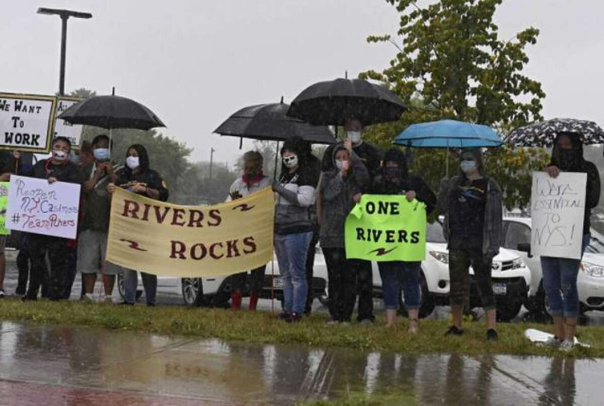 Employees at Rivers casino over the summer picketed to get the facility back open. It has since reopened.